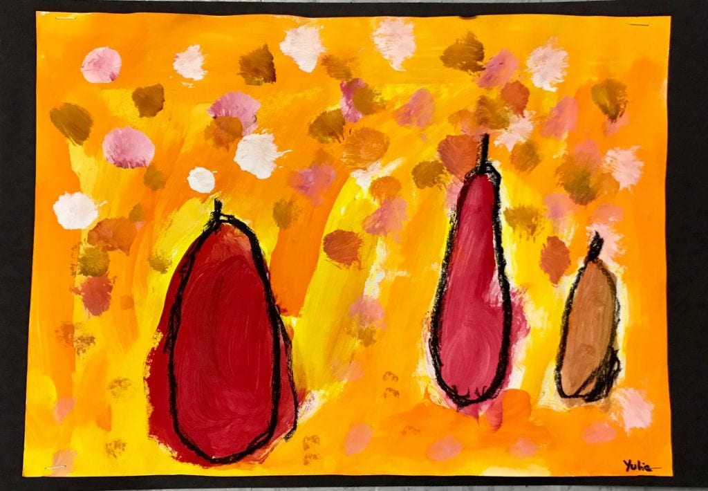 Painting Pears à la Cézanne