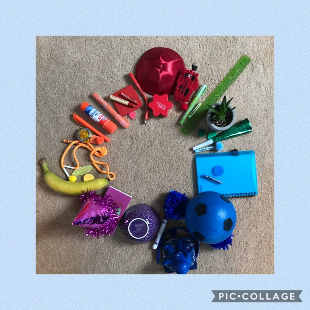 Found Objects Colour Wheel