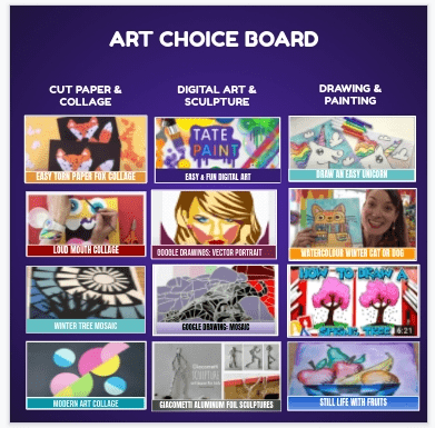 Art Choice Board