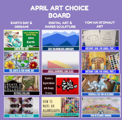 April Art Choices