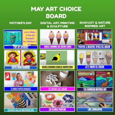 May Art Choice Board